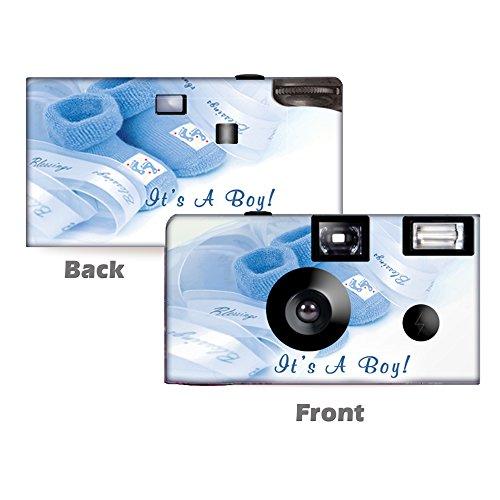 Buy Bargain 5 Baby Boy Booties Disposable Cameras, Baby Shower, Single use, Flash WM-51095-C