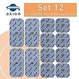 12 électrodes pour électrostimulateurs BEURER SANITAS - électrostimulation tens et ems