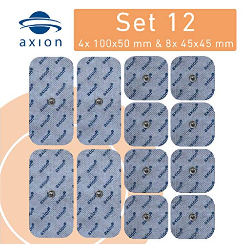 12er axion Misch-Set Elektroden - für EMS- & TENS-Geräten von Sanitas & Beurer