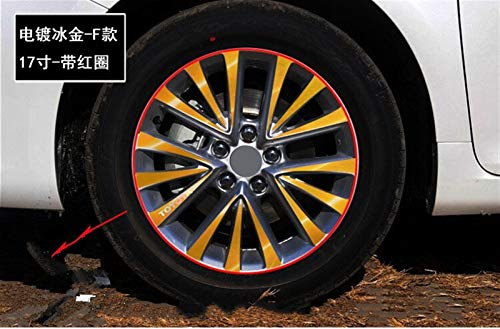 SEHNL Pegatina de Llantas/Ruedas Decoradas de 17 Pulgadas para Toyota Camry Motocicleta Llantas (Color Name : Gold)