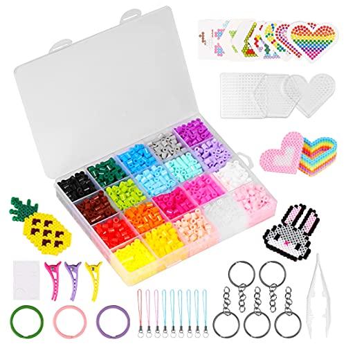 Cuentas para Planchar, 20 Colores Fuse Beads, Abalorios Fusibles, Beads Plancha, Beads, Creative Beads, Actividades Creativas Y Manualidades Infantiles