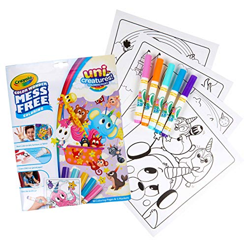 Crayola Color Wonder Unicreatures, Mess Free Coloring Pages & Markers, Gift for Kids, Age 3, 4, 5, 6