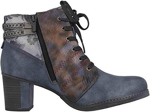 MUSTANG Shoes Stiefeletten in Übergrößen Blau 1286-507-800 große Damenschuhe, Größe:43