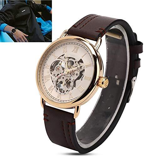 TMISHION Armbanduhr Modische Armbanduhr Mechanische Automatik Hohlmuster Herrenuhr(03)