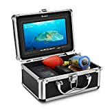 Eyoyo Underwater Fishing Camera Video Fish Finder 7 Inch LCD Monitor 1000 TVL Waterproof Camera Adjustable Infrared & White Light for Ice Lake Sea Boat Kayak Fishing 30m(98ft) Cable