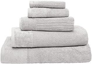 Bambury Costa Towel Range Bath Towel, Silver