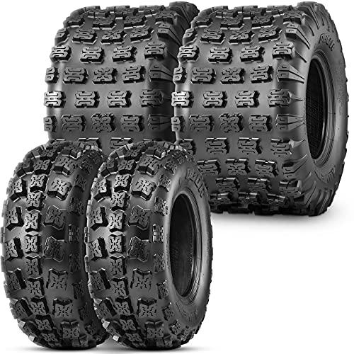 OBOR Advent ATV Tires 21x7-10 Front & 20x11-9 Rear, 6 Ply GNCC Champion Tires, 21x7x10 & 20x11x9 ATV Tires (4 Pack)