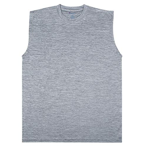Champion Big and Tall Men's Workout Tank Top - Sleeveless Gym Jersey Muscle Shirt Tank Charcoal Heather