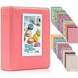 Ablus 64 Pockets Mini Photo Album for Fujifilm Instax Mini 7s 8 8+ 9 25 26 50s 70 90 Instant Camera & Name Card (64 Pockets, Dark Pink2)