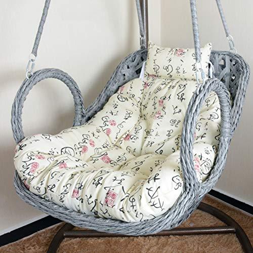 XFXDBT Swing Bench Cushion Espesar Cojín De Silla De Hamaca De Huevo Mullido Cojín De Silla De Cesta Colgante para Patio Jardín (La Silla No Está Incluida)-G 100x85cm(39x33inch)