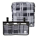 Two Bags Wheelchair Accessories by Astrata - Backpack Storage and Armrest Side Organizer - Lightweight...