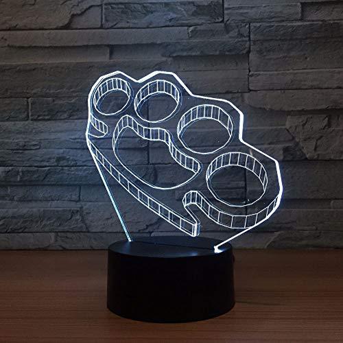 Mehrfarbige dreidimensionale 3D Tischlampe Kindergeschenk LED Nachtlicht Acryl kreative USB Lampe Nachttisch | kleine LED Tischlampe, Smart Touch Licht