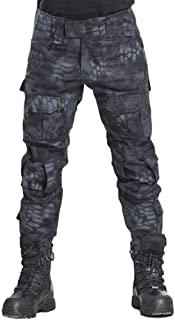 AKARMY Men's Outdoor Military Tactical Pants, Rip-Stop Casual Work Pants Camouflage Multi-Pocket BDU Cargo Pants