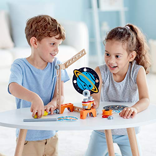 Hape Junior Inventor Magnet Science Lab| 34-Piece Magnetic Science Kit, STEAM Educational Toys for Kids 4 Years and Up, Model:E3033A