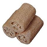 N\A Producto de Limpieza para el hogar La Piel del Cuerpo 3pcs / Set Exfoliante Suave Cepillo Cuidado Loofa Ducha profundamente Lavar Limpiador depurador Natural Loofah Luffa Baño