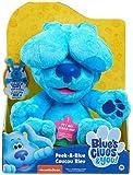 Famosa – Las Pistas de Blue y Tú, Peek-A-Boo Plush Blue, peluche de 25 cm interactivo del perro protagonista de la serie, juego del cucú tras, mueve las orejas, tiene sonido y ladra (BLU02100)
