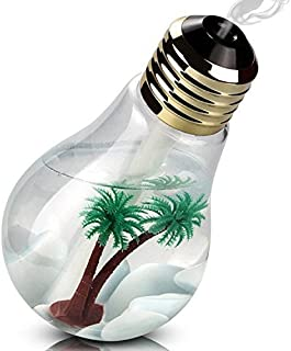 TOP FILM 加湿器 卓上加湿器 USB 超音波式 大容量 400ml 加湿器 ペットボトル 電球型 LED搭載7色変換 静か 花粉症 花粉対策に 乾燥防止 空焚き防止 オフィス用 会社 家庭用 (ゴールド)