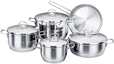 Korkmaz Stainless Steel Cookware Set 9pcs, A1900