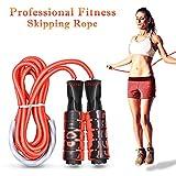 Oziral Profesional Cuerda para Saltar Ajustable Velocidad Cuerda de Salto con Mango de Espuma Saltar la Cuerda de Boxeo para Hembra y Hombres Deportes y Estado físico Crossfit