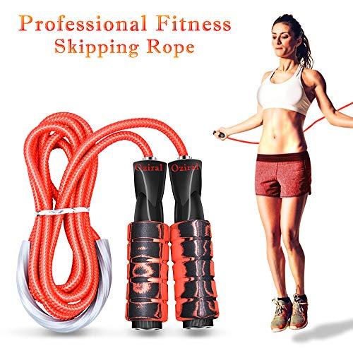 Oziral Springseil Premium Speed Jump Rope Sport Seilspringen mit Erinnerung Schaumgriffe für Frauen und Männer Fitnesstraining und Boxen, Crossfit Übung