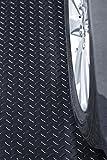 Resilia Heavy Duty Garage Floor Runner & Protector Mat - Non-Slip Grip, Embossed Diamond Plate Pattern, Water & Stain Resistant, Black, 48 inches Wide (4 feet x 8 feet)