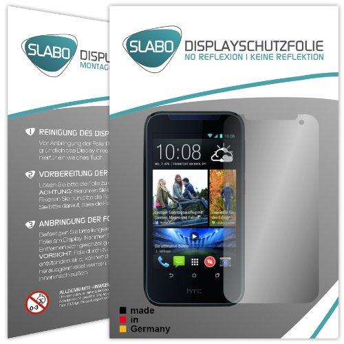 Slabo 2 x Bildschirmschutzfolie HTC Desire 310 Bildschirmschutz Schutzfolie Folie No Reflexion|Keine Reflektion MATT - Entspiegelnd MADE IN GERMANY