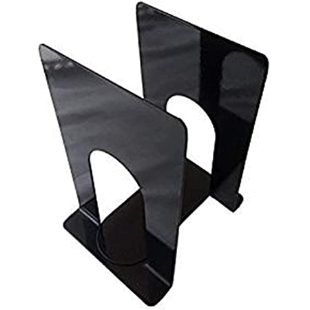 INDIAN DECOR Steel Bookend - 2 Per Pack / Black