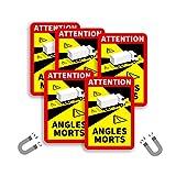 Colors Are Free Pegatinas Angulo Muerto para Camiones MAGNÉTICAS - Attention Angles MORTS - NO Adhesivas (5)