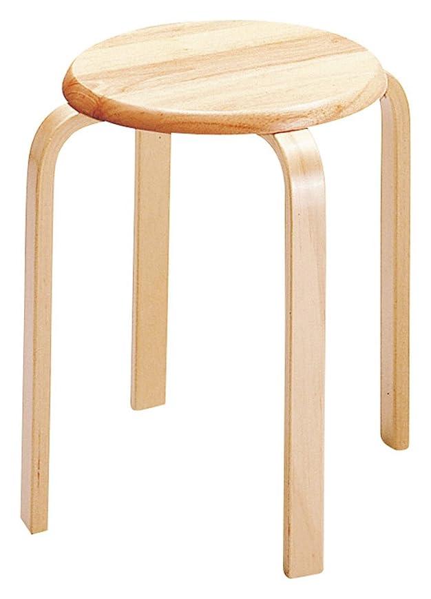 宗教ドキュメンタリー著作権椅子 スツール 木製 スタッキング ナチュラル W-1030 (NA)