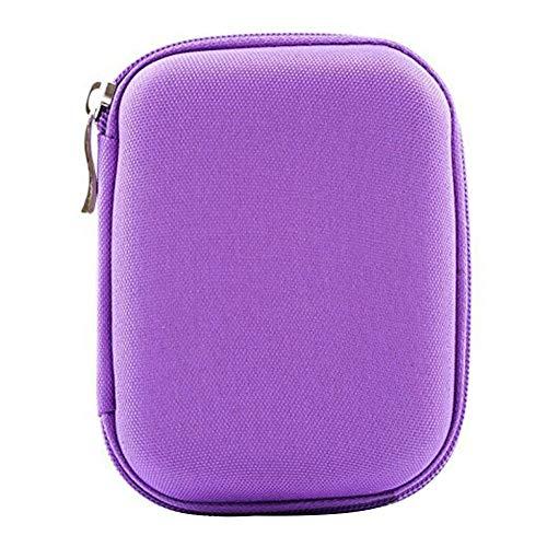 Ogquaton Ätherisches Öl Roller Flaschen Travel Holder Storage Carry Case tragbare Tasche Box - lila langlebig und nützlich