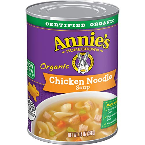 Annie's Chicken Noodle Soup, Certified Organic, Non-GMO, 14 oz can