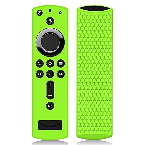 Hydream Schutzhülle für Fire TV Stick 4K / 4K Ultra HD Kompatibel mit Neuen Alexa-Sprachfernbedienung(2.Gen), Flexibel Leichte rutschfeste Stoßfeste Fernbedienung Silikonhülle Cover Hülle (Grün)
