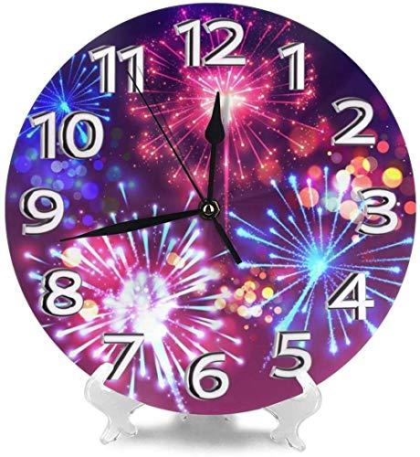 AZHOULIULIU Co.,ltd Relojes de Escritorio Fire Bloom Decorativos para Gimnasio La Creatividad precisa