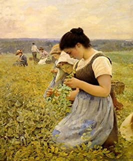 WOMEN IN THE FIELDS HARVESTING BY CHARLES SPRAGUE PEARCE PRINT REPRO