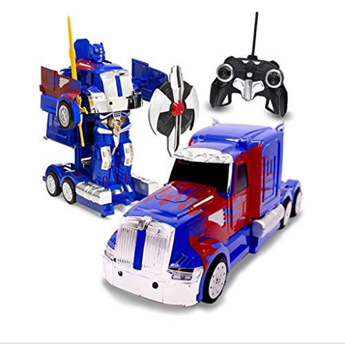 Glzcyoo Optimus Prime Transformador, RC Juguete transformable Robot de Control Remoto de Camiones con un…