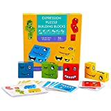 Preschool Blocks Puzzles Game for Kids Boy Ages 4-8, Toddler Wooden Puzzles Toy for Kid Boys Ages 3-5 Kindergarten Activity Cubes Block Puzzle Friendship Birthday Gift for 4 5 6 7 8 Years Old Toddlers