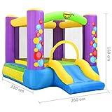 Tidyard Castillo Hinchable para Niños Castillo Hinchable con Tobogán Happy Hop 260X210X160 Cm PVC Multicolor