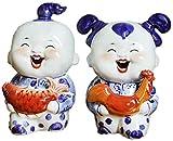 Escultura Estatua De La Escultura Artículo Decorativo Estatuas De Animales Figuras De Jardín Estatuas Artículo Decorativo AmpFigura Esculturas Figuras 2Pcs / Set Nueva Cerámica China Figura Af
