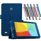 LG G Pad 7.0 Leather Case, TDA(TM) Slim Folding PU Leather
