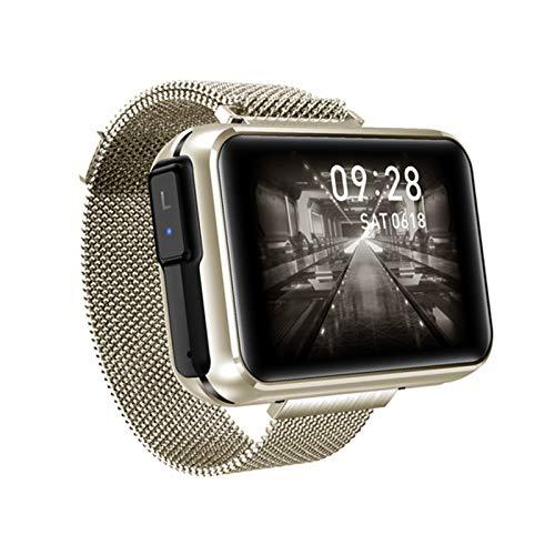 YDZ T91 2 En 1 TWS Wireless Bluetooth Headst Smart Watch para Hombres 1,4 Pulgadas Gran Pantalla De Bricolaje Bluetooth 5.0 Fitness Tracker Smartwatch (para Teléfonos iOS De Android),B