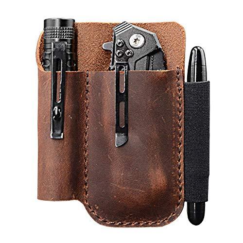 EDC Leather Pocket Pouch, Knife Organizer Pouch, Pocket Slip, EDC...