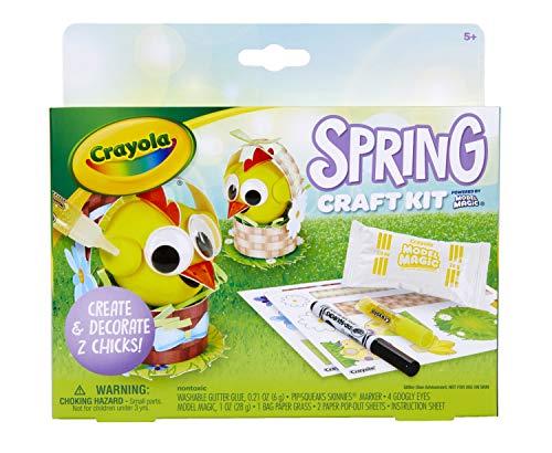 CRAYOLA Modell Magic Spring Bastelset Küken, Osterkorbfüller, Geschenk für Kinder, 57-0194