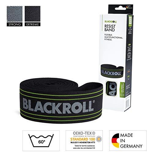 BLACKROLL RESIST BAND - black - Fitnessband. Trainingsband für das moderne Athletiktrainig mit extremer Dehnbarkeit in schwarz