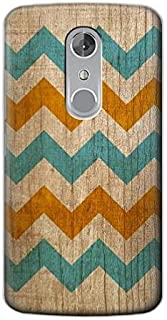 R3033 Vintage Wood Chevron Graphic Printed Case Cover For ZTE Axon 7