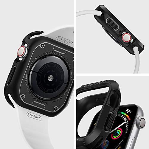 【Spigen】AppleWatch44mmケース【SeriesSE/Series6/Series5/Series4対応】落下衝撃吸収タフネスデザインラギッド・アーマー062CS24469(ブラック)