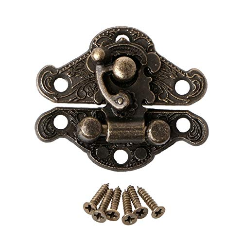 Vintage aleación de aleación de la aleación Pasta Placa de bloqueo de pecho para la caja de joyería de madera Caja de joyería del gabinete de joyería