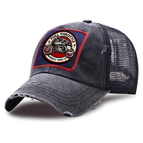 Yooci Cappellino Cappelli Snapback Unisex all'aperto Throttle Cafe Racer Trucker Hat Berretti da Baseball da Strada Traspiranti Berretto da Golf Sportivo in Maglia di Cotone