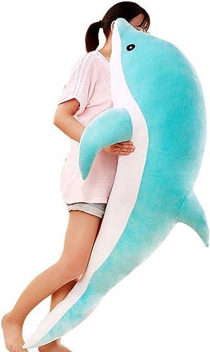 tienda en linea GUOxufei Almohada de muñeca Dolphin, Almohada Almohada Almohada de Tela Suave para Animales, Peluche,azul,50cm  tomar hasta un 70% de descuento