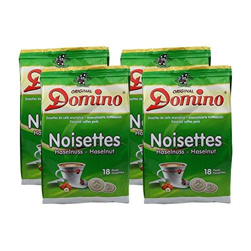 4 x DOMINO Kaffeepads Haselnuss 18 Pads