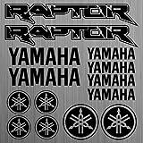 Yamaha Raptor Pegatina Calcamonía Quad Atv 14 Piezas Aus Hochleistungsfolie Adhesivo para Coche de Tuning Von Supersticki Todos Lisas Superficie UV y Waschanlagenfest Calidad Profesional Cristal
